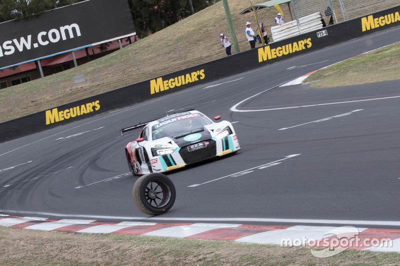 #3 Team ASR Pty Ltd, Audi R8 LMS: Ash Samadi, Daniel Gaunt, Matt Halliday avoid a tyre on track
