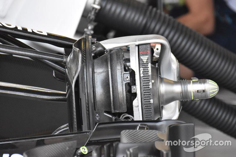 Detalle del freno delantero del Williams FW40