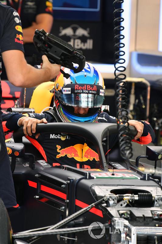 Daniel Ricciardo, Red Bull Racing RB13, mit Halo