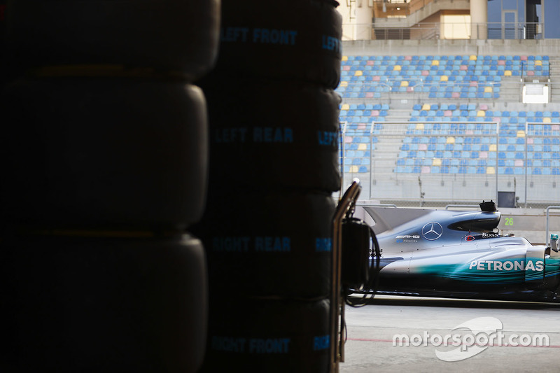 The car of Lewis Hamilton, Mercedes AMG F1 W08