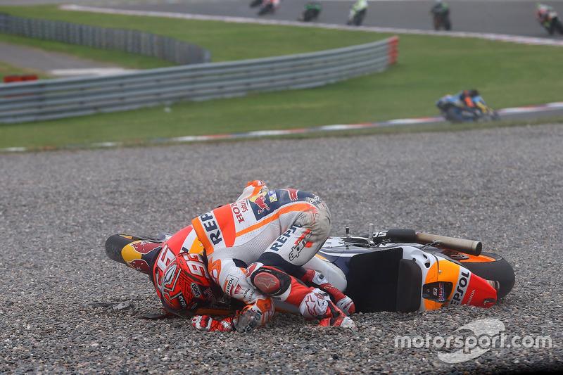 Marc Marquez, Repsol Honda Team, kaza
