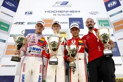 Podium: Race winner Callum Ilott, Prema Powerteam, Dallara F317 - Mercedes-Benz, second place Maximilian Günther, Prema Powerteam Dallara F317 - Mercedes-Benz, third place Guan Yu Zhou, Prema Powerteam, Dallara F317 - Mercedes-Benz