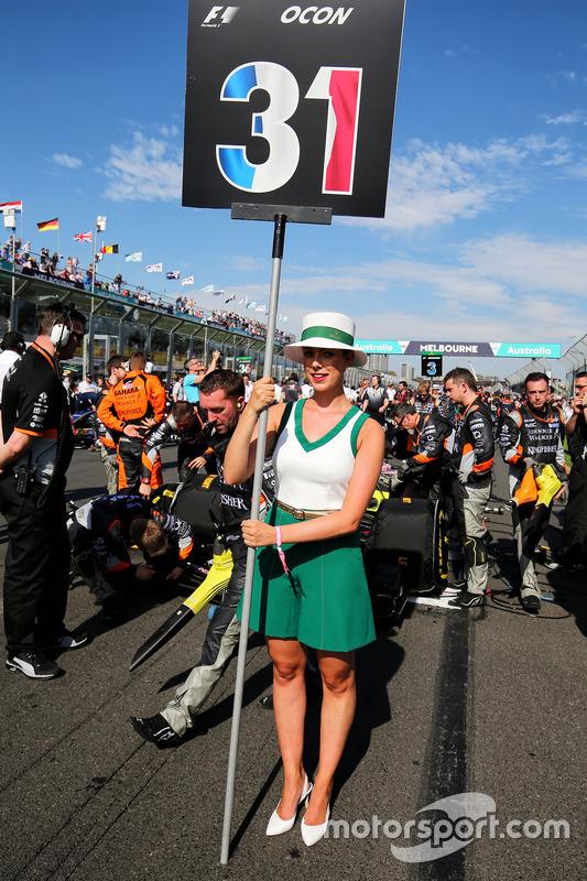 Gridgirl von Esteban Ocon, Sahara Force India F1 Team