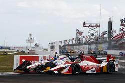 Marco Andretti, Andretti Autosport Honda, Ed Jones, Dale Coyne Racing Honda