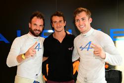 LMP2 polesitters #36 Signatech Alpine A460: Gustavo Menezes, Nicolas Lapierre, Stéphane Richelmi