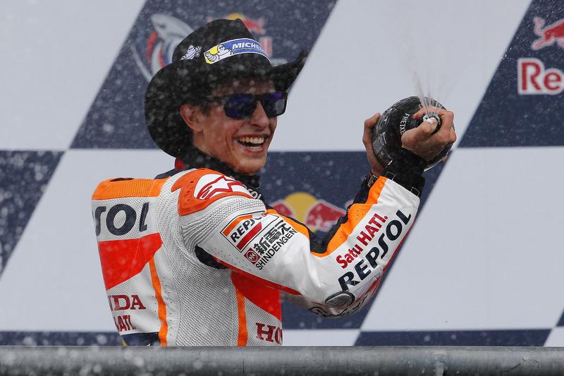 Podium: Race winner Marc Marquez, Repsol Honda Team, Honda