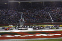 Martin Truex Jr., Furniture Row Racing Toyota leads a restart