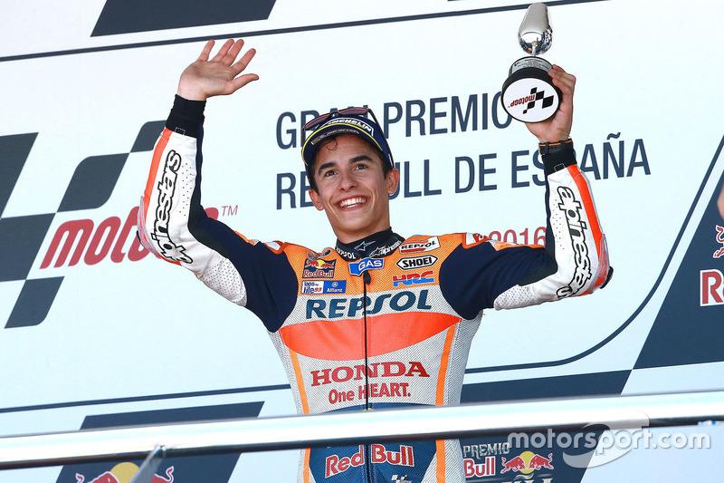 Podium: third place Marc Marquez, Repsol Honda Team