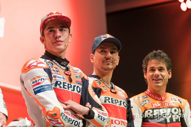 Alex Criville, Marc Márquez and Jorge Lorenzo, Repsol Honda Team