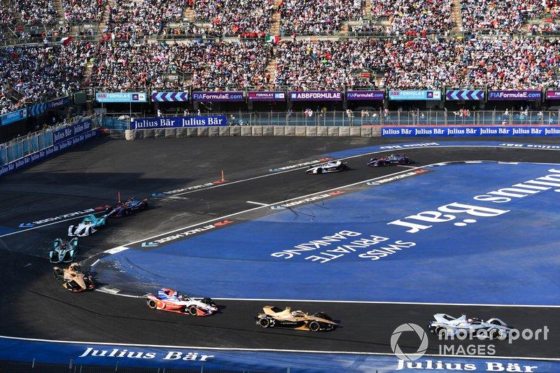 Edoardo Mortara Venturi Formula E, Venturi VFE05, Andre Lotterer, DS TECHEETAH, DS E-Tense FE19 y Jérôme d'Ambrosio, Mahindra Racing, M5 Electro