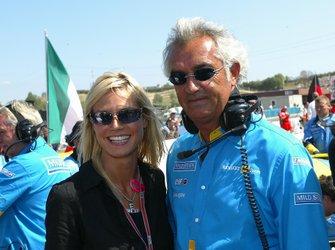 Flavio Briatore, Renault Team Principal with model Heidi Klum