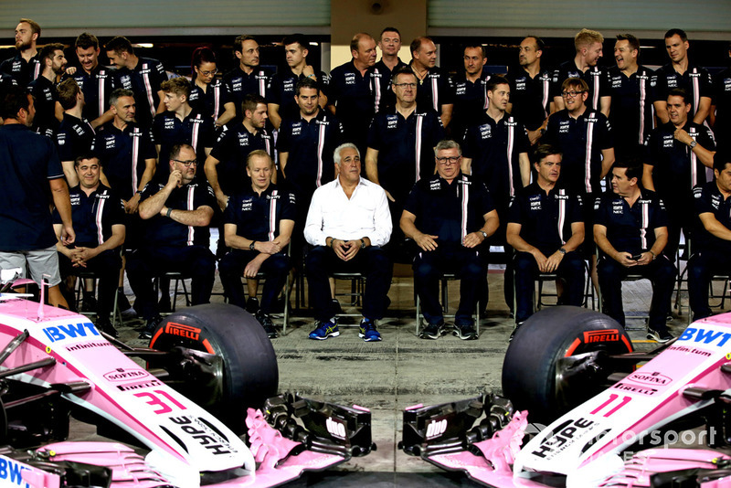Lawrence Stroll, Racing Point Force India F1 Team Owner and Otmar Szafnauer, Racing Point Force India Team Principal Racing at Point Force India F1 Team Photo