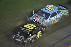 Crash: Jimmie Johnson, Hendrick Motorsports, Chevrolet Camaro Lowe's for Pros and Ross Chastain, Premium Motorsports, Chevrolet Camaro Caddy's Beach Bar Restaurants