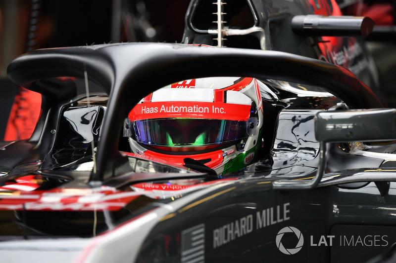 Antonio Giovinazzi, Haas F1 Team VF-17 avec le Halo