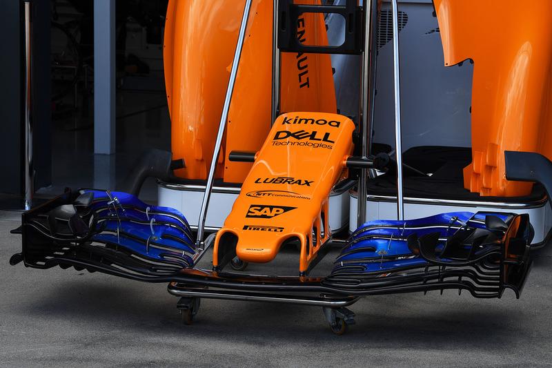 McLaren MCL33, naso e ala anteriore