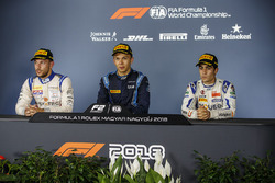 Press conference: race winner Alexander Albon, DAMS, second place Luca Ghiotto, Campos Racing, third place And Sergio Sette Camara, Carlin