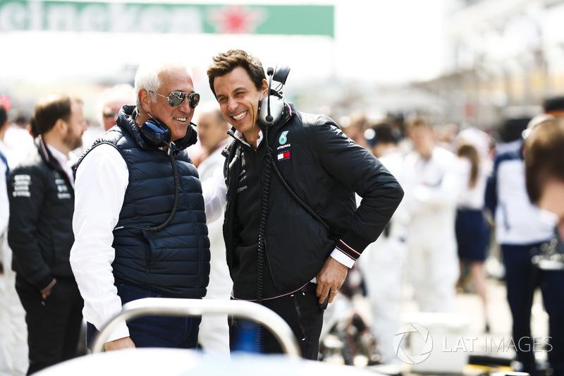 Lawrence Stroll dan Toto Wolff, Mercedes AMG F1