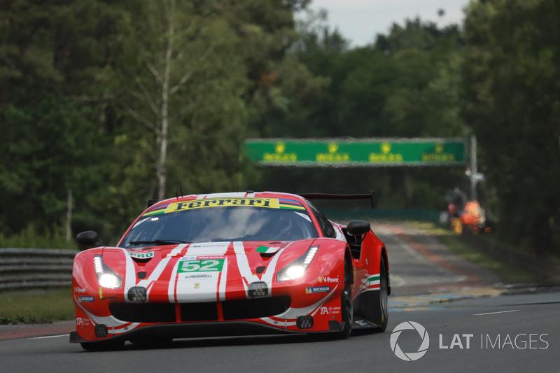 #52 AF Corse Ferrari 488 GTE EVO: Toni Vilander, Antonio Giovinazzi, Pipo Derani