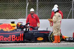 Max Verstappen, Red Bull Racing RB14 in the gravel