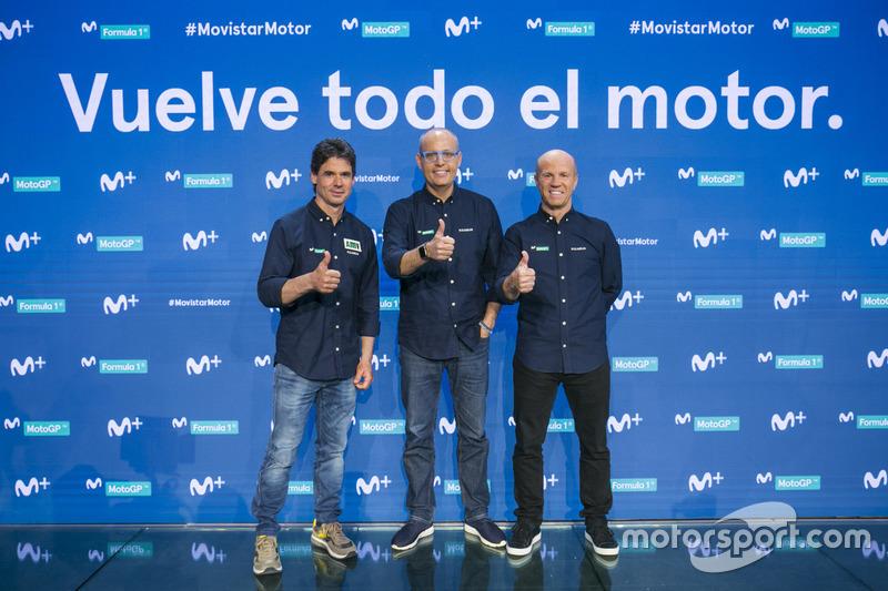 Alex Crivillé, Ernest Riveras y Randy Mamola
