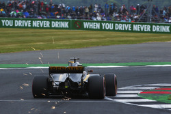 Sparks fly from Nico Hulkenberg, Renault Sport F1 Team RS17