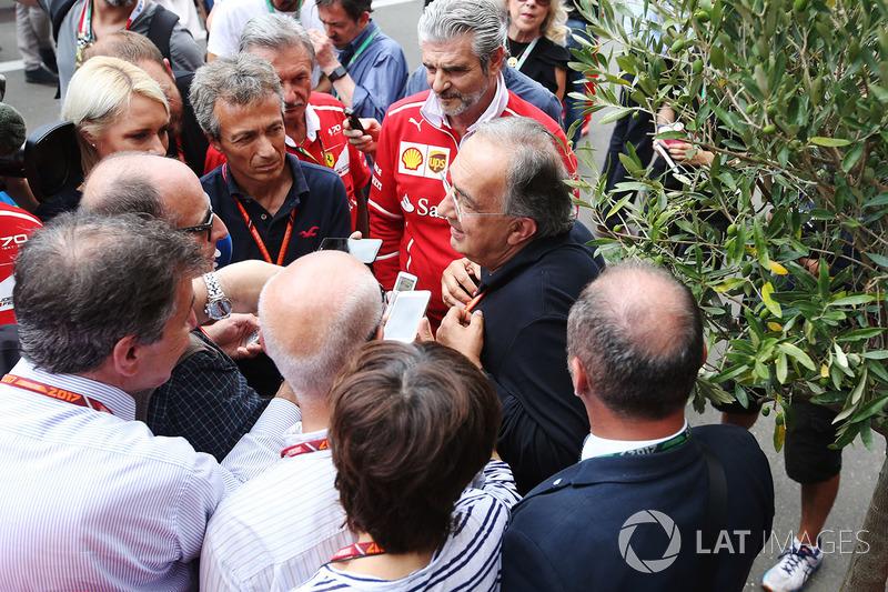 Sergio Marchionne, Ferrari-Präsident; Maurizio Arrivabene, Ferrari-Teamchef