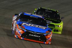 Kyle Busch, Joe Gibbs Racing Toyota and Brad Keselowski, Team Penske Ford