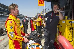 Ryan Hunter-Reay, Andretti Autosport Honda with team owner Michael Andretti