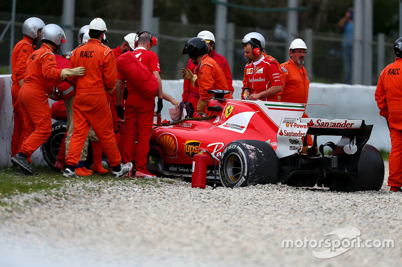 Кімі Райкконен, Ferrari SF70H після аварії