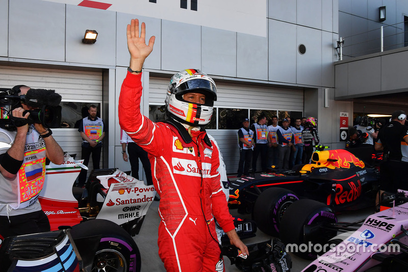 Обладатель поул-позиции Себастьян Феттель, Ferrari