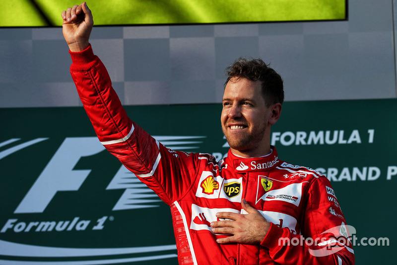 Podium: ganador, Sebastian Vettel, Ferrari