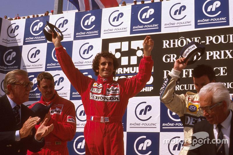 4º Alain Prost: 106 podios