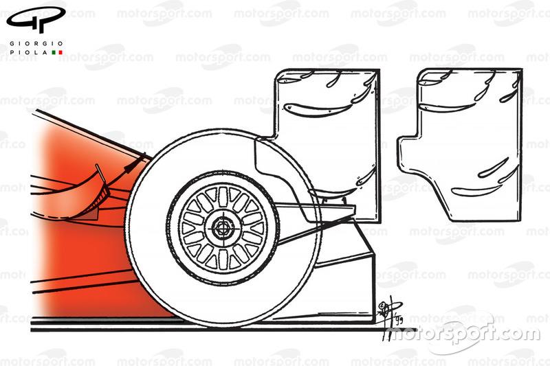 Dua spek sayap belakang Ferrari F399, GP Monako 1999
