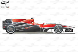Virgin Racing VR-01 side view