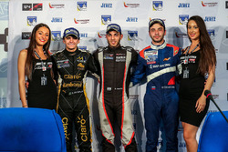 Race winner Roy Nissany, RP Motorsport, second place Pietro Fittipaldi, Lotus, third place Matevos Isaakyan, SMP Racing