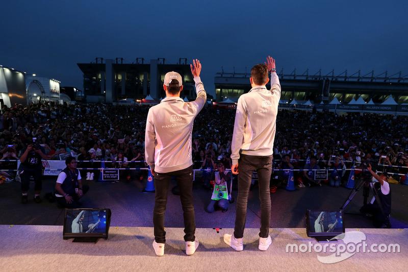 Esteban Ocon, Manor Racing, und Pascal Wehrlein, Manor Racing