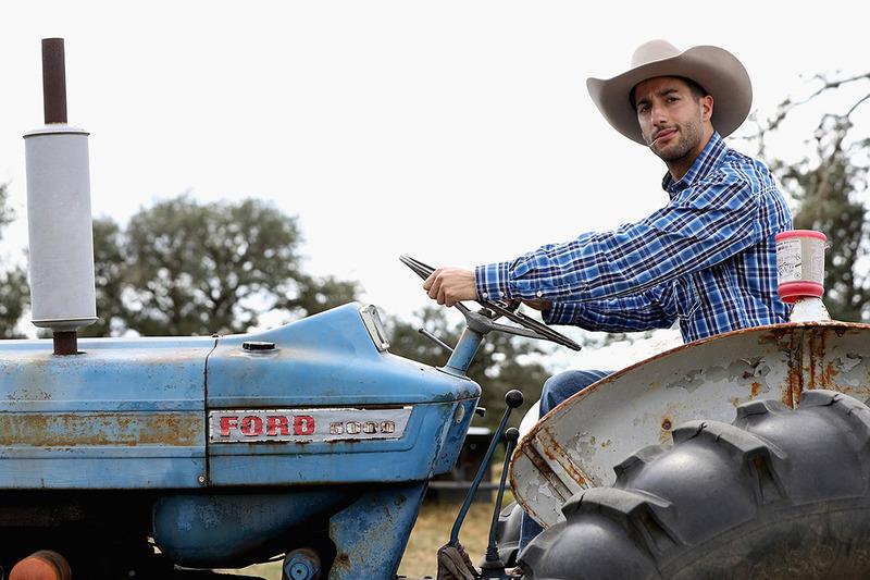 Daniel Ricciardo, Red Bull Racing at a farm in Austin