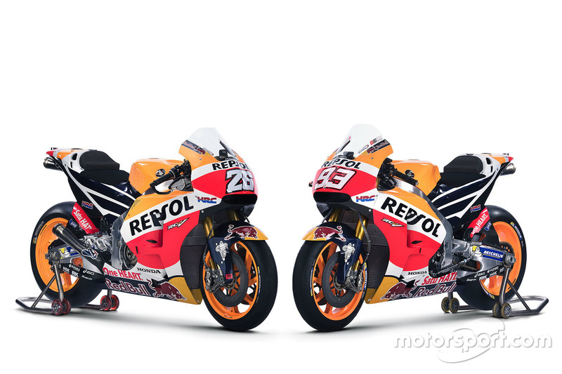 Honda RC213V 2016 von Dani Pedrosa, Repsol Honda Team und Marc Marquez, Repsol Honda Team