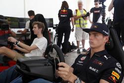Max Verstappen, Red Bull Racing on a racing simulator