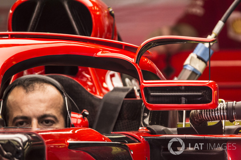 Ferrari SF71H detalle retrovisor