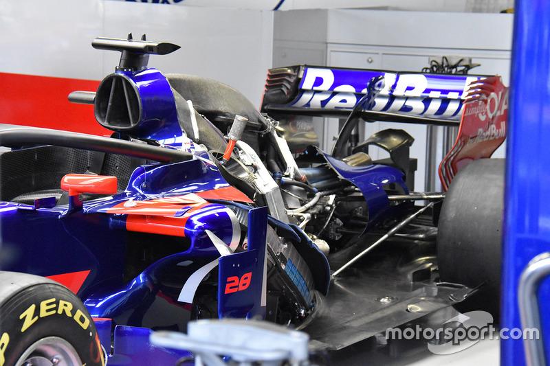 Trasera del Scuderia Toro Rosso STR12