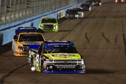 John Hunter Nemechek, SWM-NEMCO Motorsports Chevrolet, Todd Gilliland, Kyle Busch Motorsports Toyota