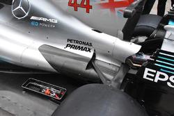 Mercedes-Benz F1 W08 parte trasera