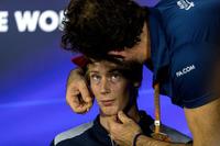 Brendon Hartley, Scuderia Toro Rosso and Matteo Bonciani, FIA Media Delegate in the Press Conference