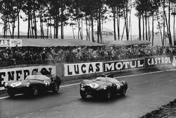 #2 Jaguar D-type: Paul Frere, Desmond Titterington, #3 Jaguar D-type: Jack Fairman, Ken Wharton
