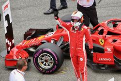 Обладатель поула Себастьян Феттель, Ferrari