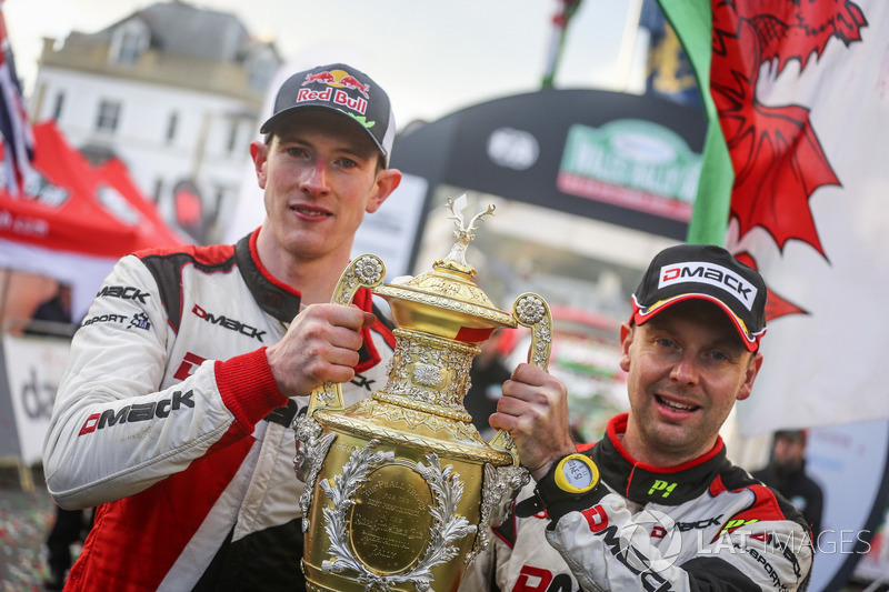 Pemenang Elfyn Evans, Daniel Barritt, Ford Fiesta WRC, M-Sport