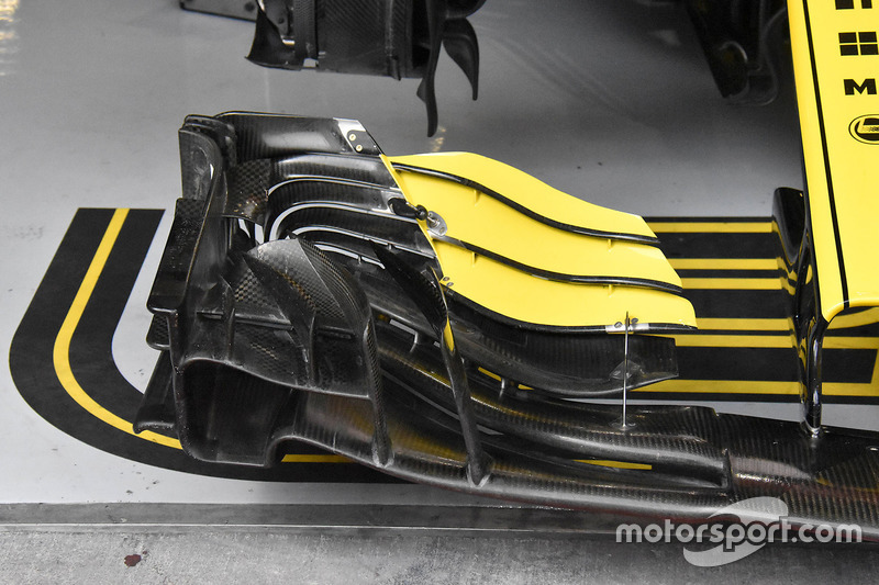 Nico Hulkenberg, Renault Sport F1 Team R.S. 18 detail front wing