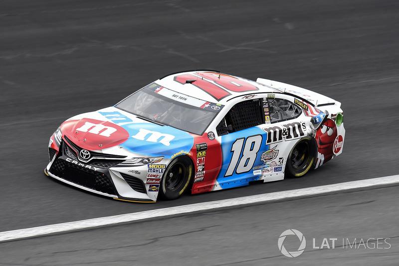 1. Kyle Busch, Joe Gibbs Racing, Toyota Camry M&M's Red White & Blue