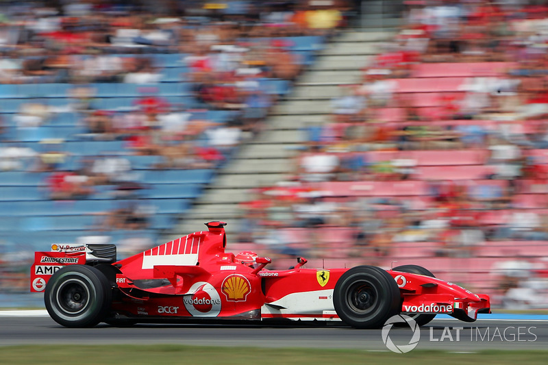2006: Ferrari - 2º lugar, 7 vitórias, 121 pontos, 18 GPs